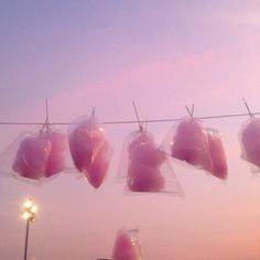 pink sky and cotton candy