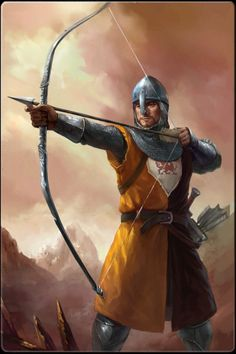 The archer excels in combat at a distance, combining skill, speed, and accuracy to deadly effect. A standard and distinct fantasy archetype, the archer has little use for the typical trappings of other warriors. They values accuracy, agility, and skill over brute force and prowess with bow over familiarity with a variety of weapons.