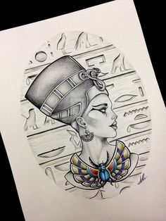 Queen Nefertiti Tattoo Design Inspiration: