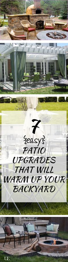 7 {easy} Patio Upgrades That Will Warm Up Your Backyard