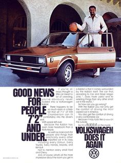 Wilt Chamberlain for the 1979 Volkswagen Rabbit