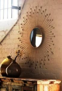 Starburst Mirror - Retro Chic!  Find it at:  http://www.tuscanhomedecorandmore.com/servlet/the-619/starburst-mirror%2C-Kalalou-mirror%2C/Detail