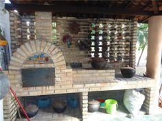 Forno e fogão à lenha, forno de pizza rústico  Sítio em Aquiraz, Ceará