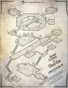 Sewer Crypts of Skardus (Parchment Version)