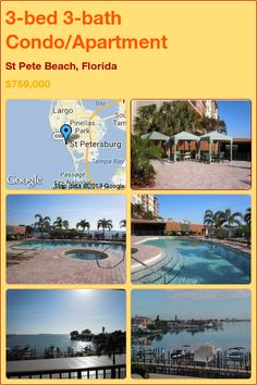 3-bed 3-bath Condo/Apartment in St Pete Beach, Florida ►$759,000 #PropertyForSale #RealEstate #Florida http://florida-magic.com/properties/5064-condo-apartment-for-sale-in-st-pete-beach-florida-with-3-bedroom-3-bathroom