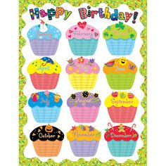 Happy Birthday Chart (Set of 3)