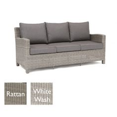 Kettler Palma 3 Seat Sofa - White Wash with Taupe cushions Outdoor Sofa, Outdoor Living, Outdoor Decor, Garden Furniture, Outdoor Furniture, White Sofas, Taupe, Bbq, Cushions