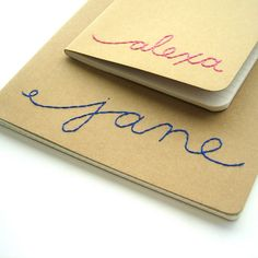 custom Moleskine  custom lined journal  Embroidered Name