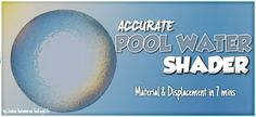 Accurate Pool Material Set up (displacement & shader node tutorial)