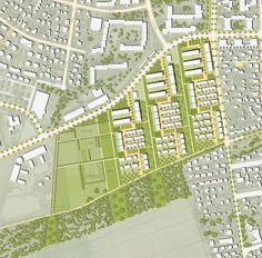 Städtebaulich-landschaftsplanerisches Konzept im M. 1:1.000