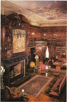 The Library at Biltmore House, Asheville, NC, USA....OMG!!!! I want to live in that room only that room!!!