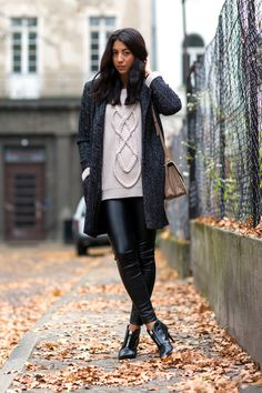 How to wear leather leggings like a fashion girl this week