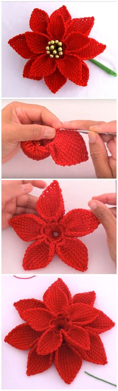 Crochet Ideas With Patterns - Diy And Crafts Crochet Bows, Crochet Round, Crochet Crafts, Crochet Flowers, Crochet Projects, Crotchet, Basic Crochet Stitches, Crochet Patterns, Crochet Ideas