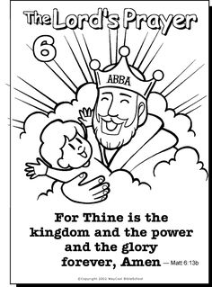 The Lords Prayer Coloring Page 6