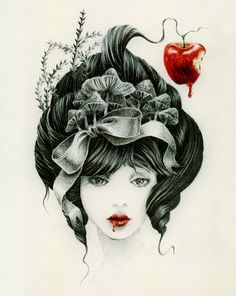 Courtney Brims' paintings. love them! this one is snow white