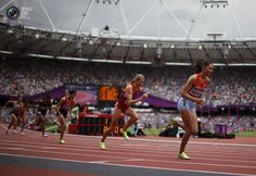 Day 12 - Haley Nemra of the Marshall Islands starts her women's 800m round 1 heat during the London 2012 Olympic Games. LUCY NICHOLSON/REUTERS