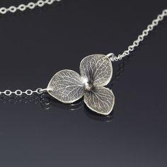 Hydrangea Blossom Necklace by Lisa Hopkins Design