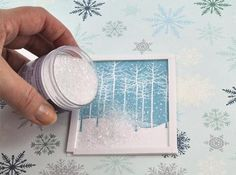 Invitation idea . Falling Snow Holiday Shaker Card : Page 02 : Decorating : Home & Garden Television