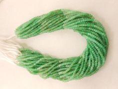 AAA-Full-13-Chrysoprase-gemstone-faceted-rondelle-beads-strand-3MM-4MM-Beads