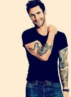 Adam Levine....may his looks only get better with age lord.