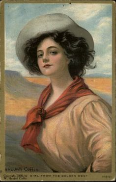 Beautiful Woman Cowgirl from The Golden West Series
