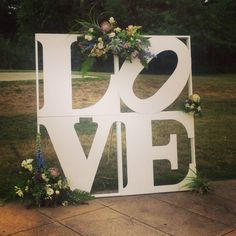 Love Sign wedding backdrop