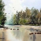 Grose River, Yarramundi,Watercolour painting demonstration