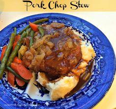 Pork Chop Stew - by Cooking On A Budget Patty Anderson's Blog  --  http://pattyandersonsblog.blogspot.com/2014/12/pork-chop-stew.html