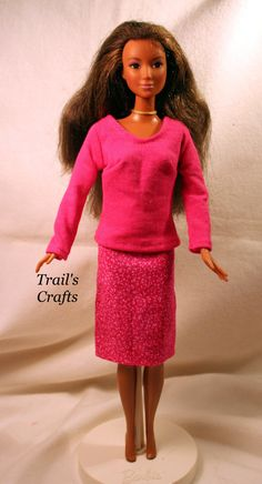 Modest Doll Clothes! Handmade Barbie Doll Outfit Style 39 Hot Pink. 4.00, via Etsy.