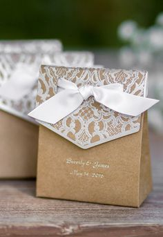 Super cute favor boxes - personalize them with names and dates