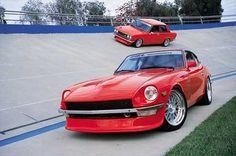 #red 1972 Datsun 240Z