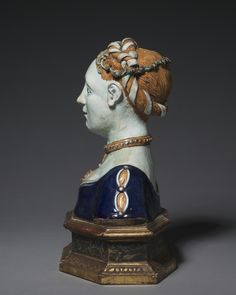 Early 1500s, Tuscany, Maiolica Bust of a Woman, Cleveland Museum