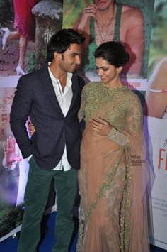 Ranveer Singh and Deepika Padukone at Finding Fanny Premiere - The way he looks at her gives ME butterflies