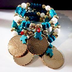 Bracelets By Vila Veloni Turquoise Faith