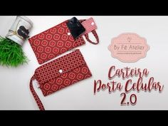 How to sew zipper pouch w/ mobile phone pocket Sewing Tutorials, Sewing Projects, Sewing To Sell, Cell Phone Pouch, Fabric Purses, Diy Purse, Zipper Pouch, Fabric Crafts, Hand Sewing
