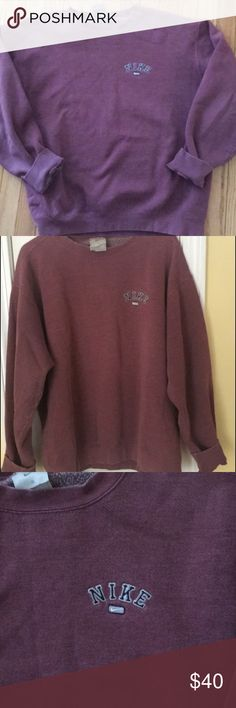 Vintage Nike Crewneck Super cute and rare vintage Nike crew neck. Perfect condition. Great over sized, relaxed look Nike Tops Sweatshirts & Hoodies