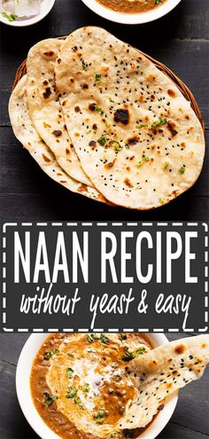 naan recipe with step by step photos. this is an easy naan bread recipe without yeast made on tawa or stovetop or griddle. soft, chewy and delicious naan bread. Naan Bread Recipe No Yogurt, Make Naan Bread, How To Make Naan, Homemade Naan Bread, Recipes With Naan Bread, Naan Recipe Without Yogurt, Keto Bread, Easy Naan Bread Recipe No Yeast No Yogurt, Healthy Recipes