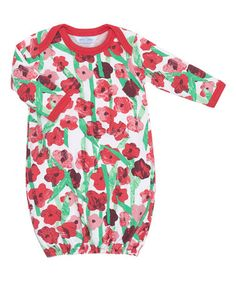 This Red Flowers for Friends Layette Gown - Infant is perfect! #zulilyfinds