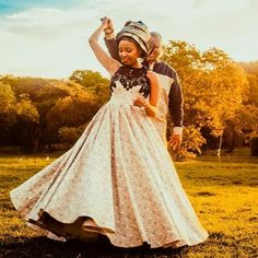 African Bridal Dress, African Print Wedding Dress, African Fashion Dresses, African Dress, African Wear, African Style, South African Traditional Dresses, Traditional Wedding Dresses, Seshweshwe Dresses