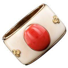 1stdibs - Mario Buccellati Coral and Ivory Bangle Bracelet explore items from 1,700 global dealers at 1stdibs.com