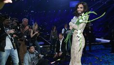 Winner Eurovision Song Contest 2014 Conchita Wurst .  The Queen of Austria