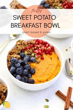 This sweet potato breakfast bowl is a quick and easy paleo breakfast that is also vegan and whole30 approved! #paleo #sweetpotato #breakfast #eatwithclarity #vegan