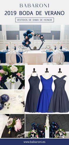 6064ae26b Las 25 mejores imágenes de Vestidos de fiesta azul marino