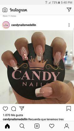 Burberry Nails, Nail Games, Elegant Nails, Glitter Nails, Acrylic Nails, Nail Designs, Nail Art, Makeup, Pretty