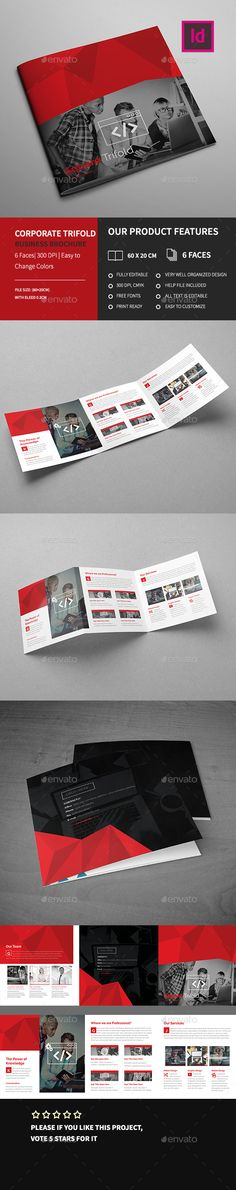 Corporate Square Trifold Business Brochure Template InDesign INDD. Download here: http://graphicriver.net/item/corporate-square-trifold-business-brochure-2/15970628?ref=ksioks