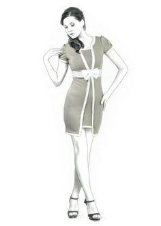 1960s Dress Style. 4334 Personalized Dress Pattern - PDF sewing pattern