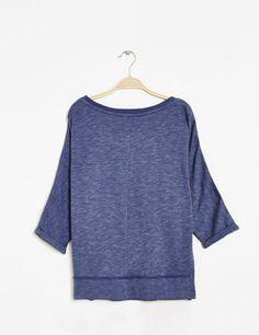 sweat imprimé bleu indigo