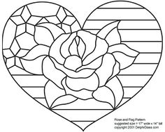 Free Rose and Flag Pattern