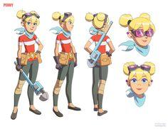 Inspector Gadget : Penny : Model Sheet by nlombardo on DeviantArt