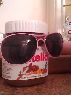 Got my sunglasses on. Is it warm outside? Lol i dont socialize. People would freak after they see a walking nutella with no legs